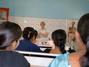 Marsha, an RN and member of CHCC, guest teaches Nursing Students at Christian Hospital, a mission hospital in rural India