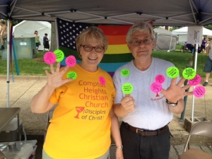 Compton Heights Stickers are a favorite at PrideFest